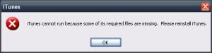テスト画像なぜかiTunesのエラーメッセージ